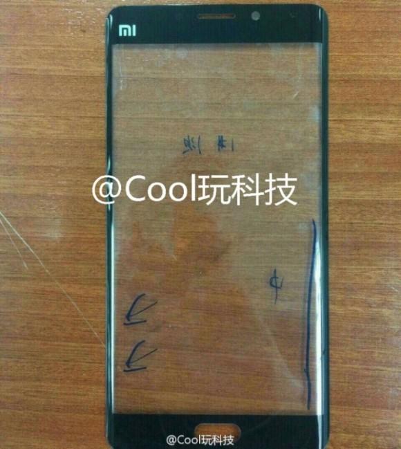 Фото подтвердило изогнутый дисплей у Xiaomi Mi Note 2