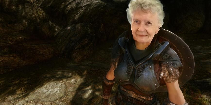 80-летняя бабуля сделала более 300 видео по Skyrim