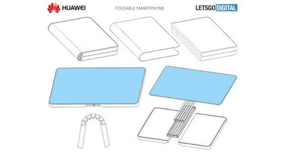Huawei запатентовала складной смартфон