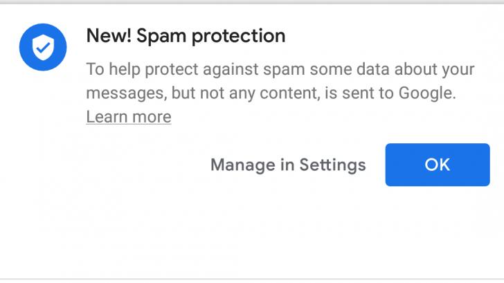 В Android «Сообщениях» заработала защита от спама