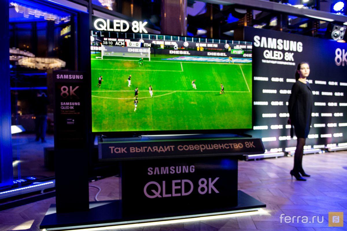 Samsung начал продавать свой первый 8K-телевизор в России