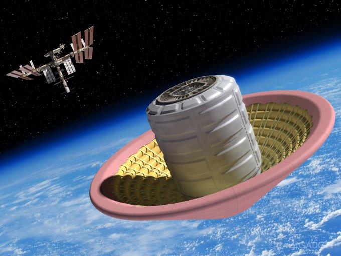 Колонистов Марса опустят на планету в надувном конусе (3 фото + видео)