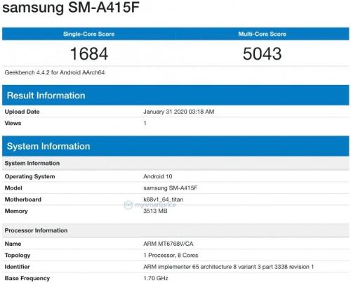 Рассекречен новый бюджетный Samsung на китайском процессоре