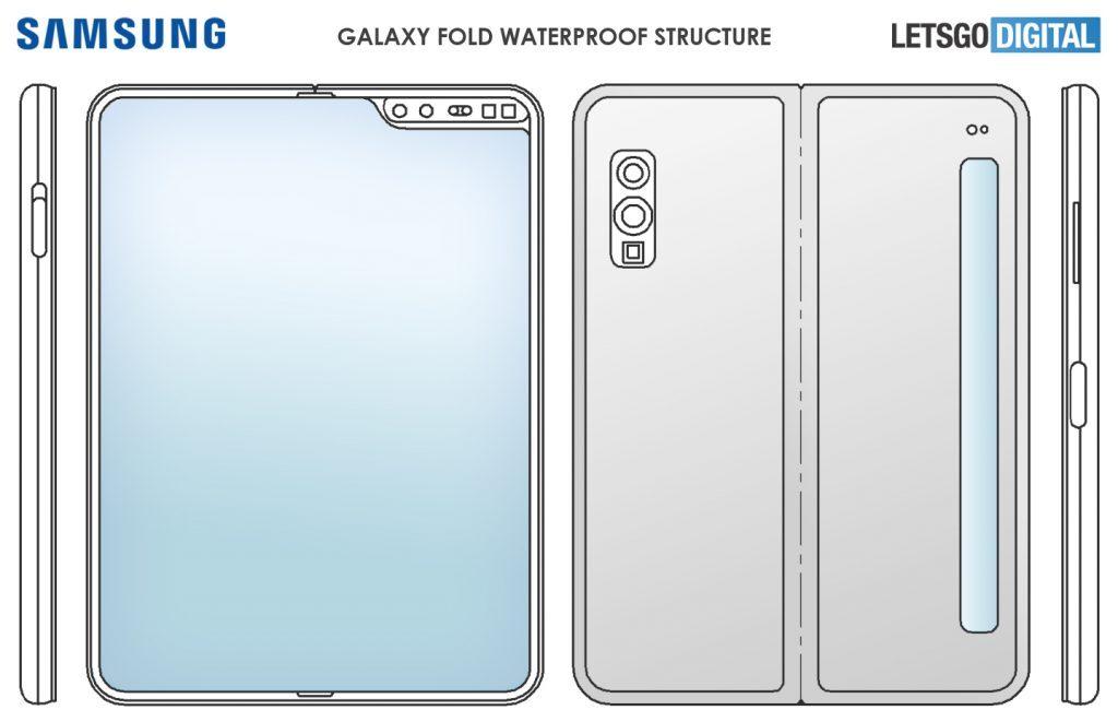 Samsung запатентовала смартфон с гибким экраном и водонепроницаемым корпусом