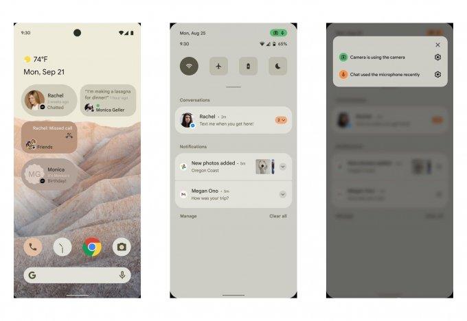 Первое знакомство с интерфейсом Android 12 (2 фото)