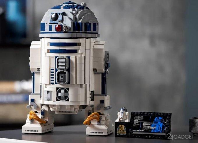 К 50-ти летию Lucasfilm компания LEGO выпустила конструктор дроида R2-D2 (6 фото + видео)