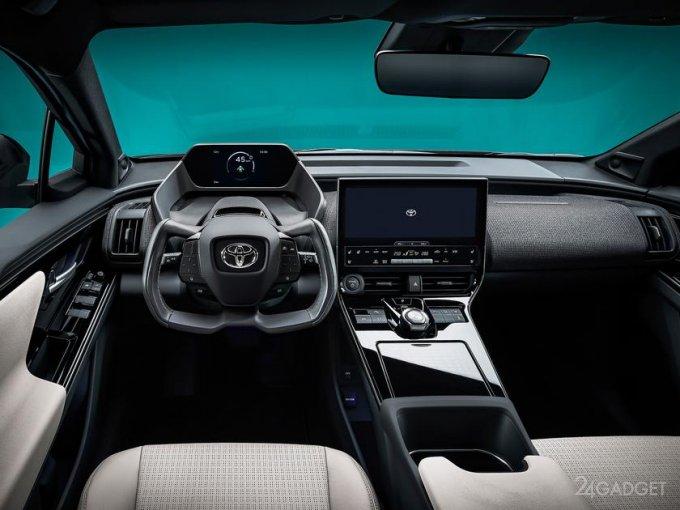 Анонсирован концепт внедорожника Toyota bZ4X BEV со штурвалом как у Tesla (4 фото + 2 видео)