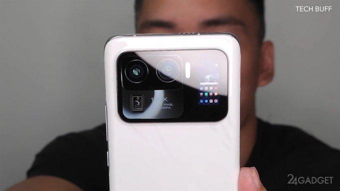 На дополнительном малом экране Xiaomi Mi11 Ultra запустили игру (видео)