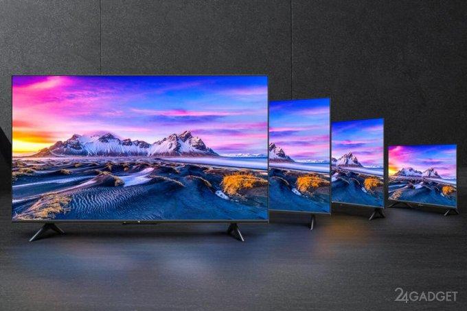 Представлена новая серия бюджетных 4К телевизоров Xiaomi Mi TV P1 по цене от 280 до 650 евро (4 фото)
