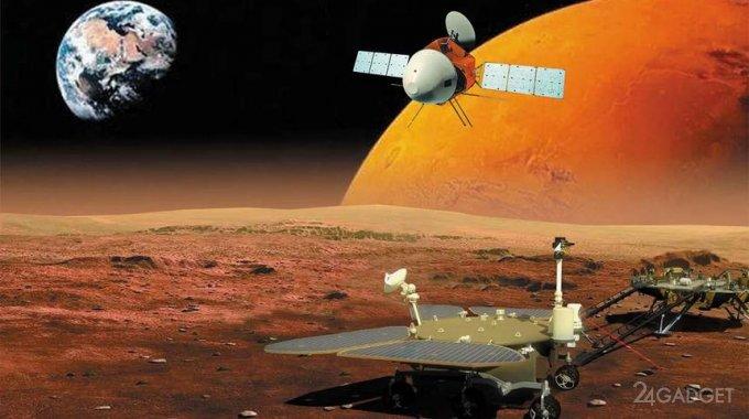 Китайский марсоход прислал новое видео своего путешествия на Марсе (видео)