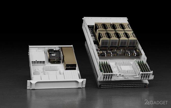 Представлен графический процессор NVIDIA А100 с тензорным ядром и 80 ГБ памяти (2 фото)
