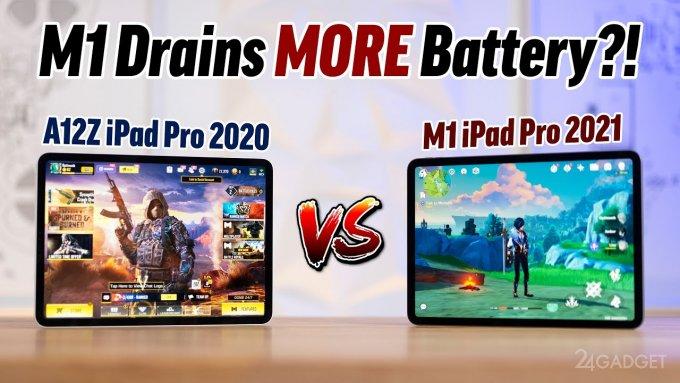 Энтузиаст сравнил производительность и автономность планшетов iPad Pro на процессорах A12Z и M1 (видео)