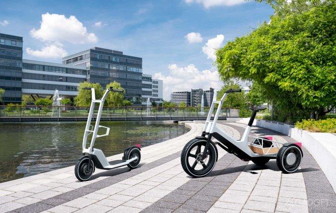 BMW представила концепт электрического трехколесного «пикапа»-велосипеда и электросамоката (4 фото)