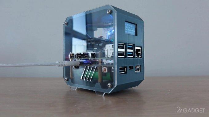 На базе Raspberry Pi 4 создан крошечный сервер (2 фото + видео)