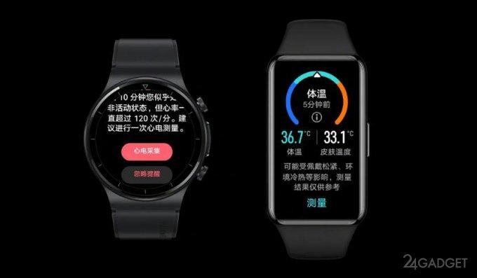 Представлены фитнес трекер Huawei Band 6 Pro и смарт часы Huawei Watch GT 2 Pro ECG (3 фото)