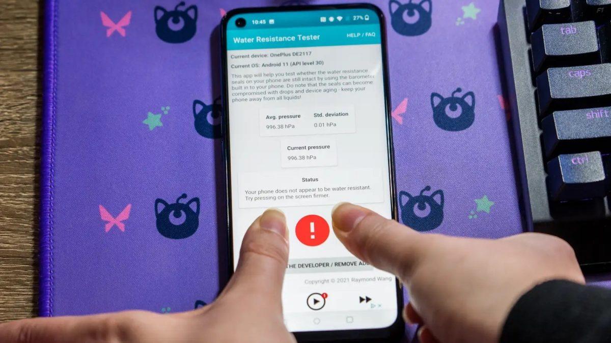 Создано Android-приложение для проверки защищённости смартфонов от воды