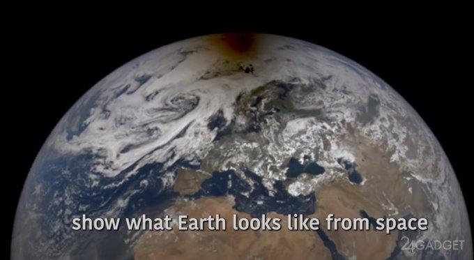 NASA представило изображение кольцевого солнечного затмения, снятое из космоса (видео)