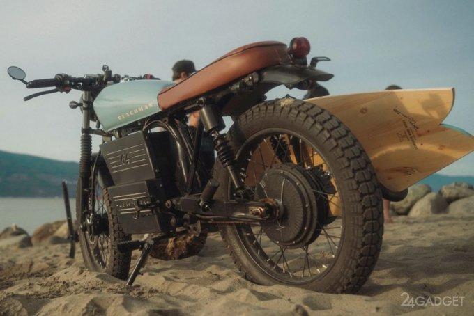 Beachman 64 – гибрид электромотоцикла и электровелосипеда (видео)