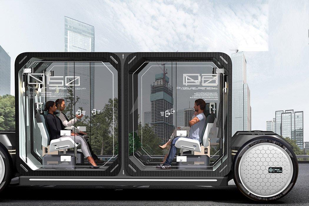 Представлен новый автомобиль с капсулами для изоляции каждого пассажира
