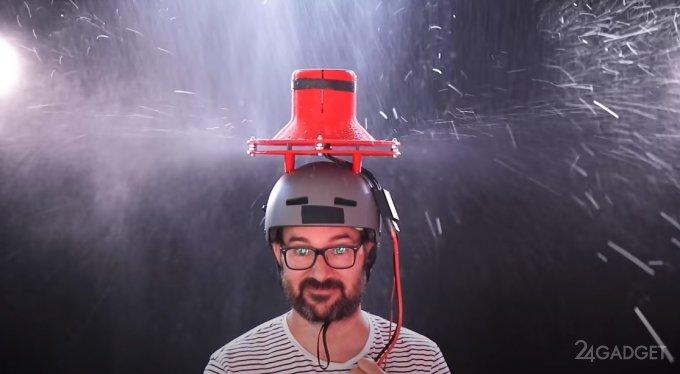 Эксперимент – вентилятор вместо зонта (видео)