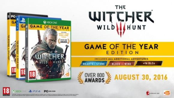 Специальное издание Ведьмака 3 «Игра Года» выйдет 30 августа