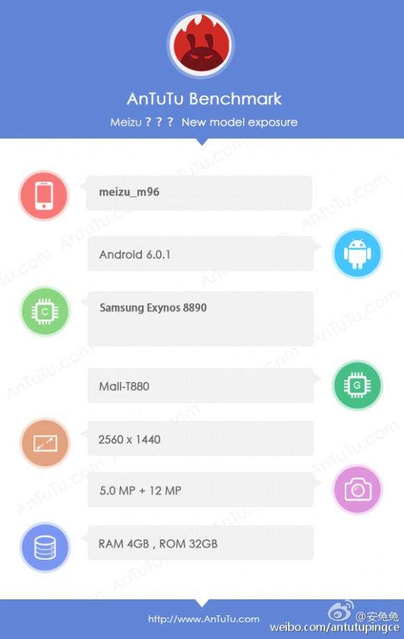 Продвинутый смартфон Meizu засветился в бенчмарке