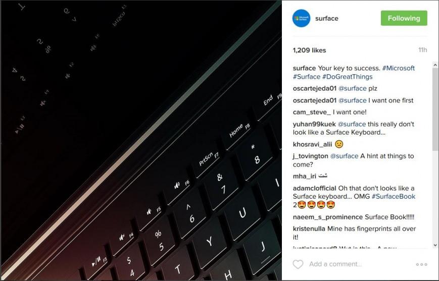 Microsoft показала кусочек будущего Surface Book 2