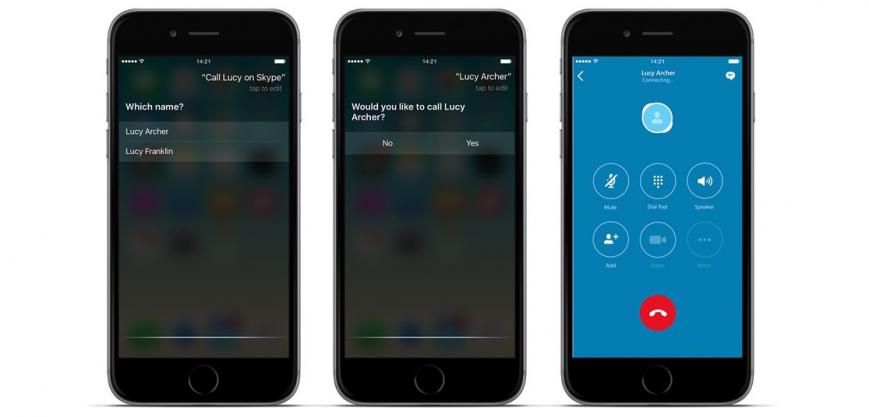 В Skype для iOS появилась поддержка Siri