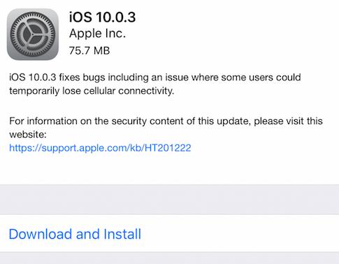 Apple исправила проблемы с подключением в iPhone 7 с релизом iOS 10.0.3