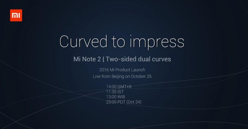 Xiaomi подтвердила изогнутый дисплей у Mi Note 2
