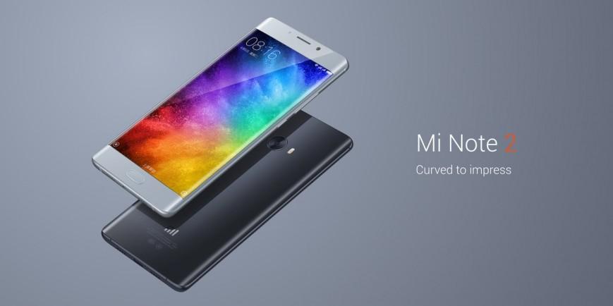 Мощный Xiaomi Mi Note 2 с изогнутым дисплеем представлен официально