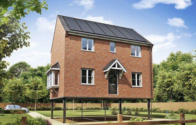 Новые дома в Англии оснастят сваями для защиты от наводнений