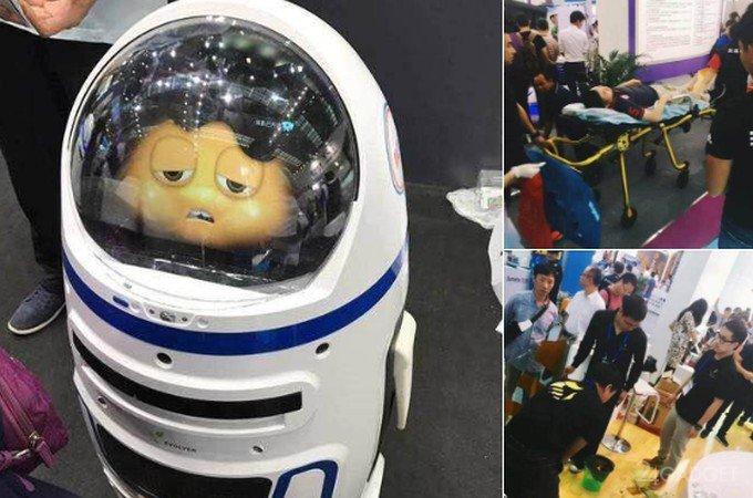 В Китае робот напал на человека (6 фото + видео)