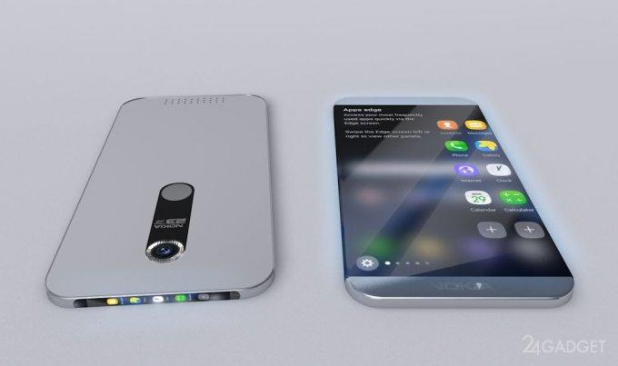 Nokia — безрамочный смартфон с дополнительным экраном (5 фото)