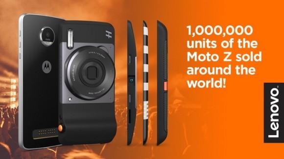 Было продано более 1 миллиона смартфонов Motorola Moto Z