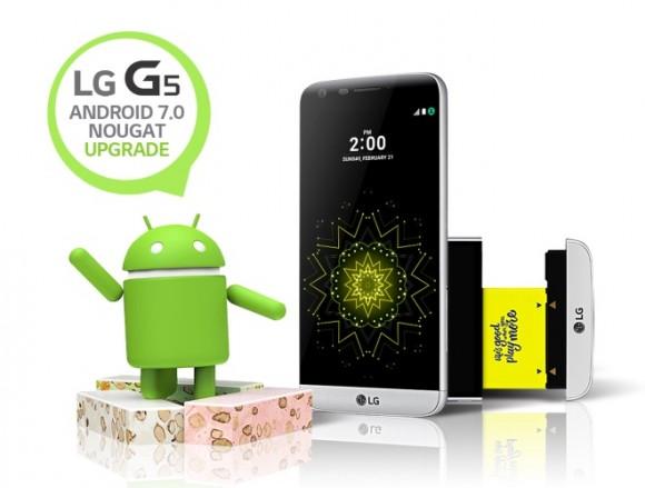 LG G5 начал обновляться до Android 7.0 Nougat