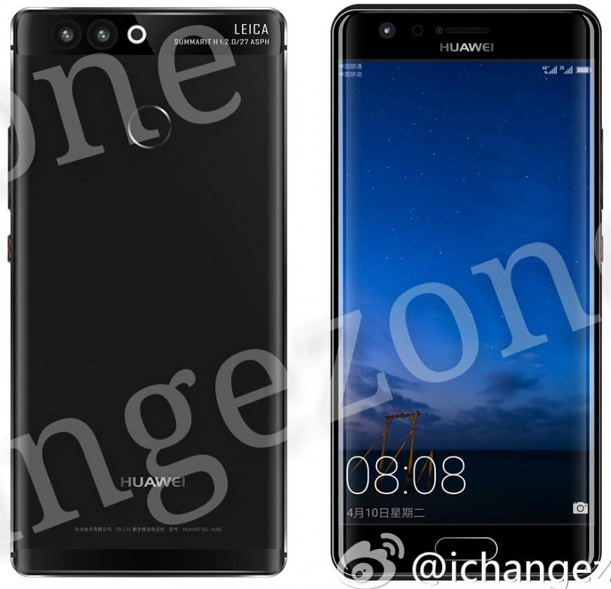 Huawei P10 с изогнутым дисплеем показался на рендере