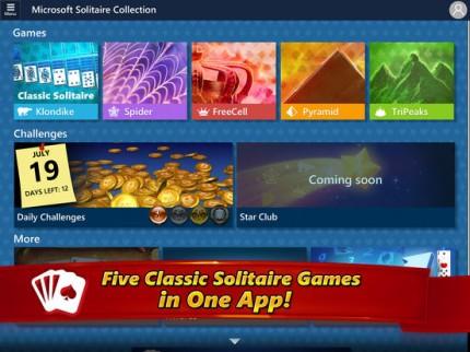 Microsoft выпустила бесплатную коллекцию классических пасьянсов для iOS и Android