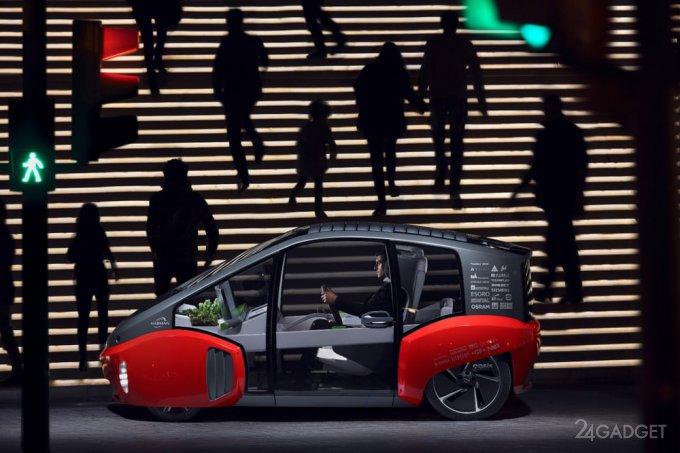 Rinspeed Oasis - будущее автономных электромобилей (21 фото + видео)