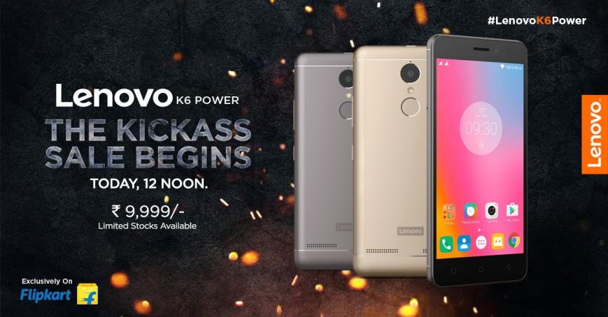 Продажи Lenovo K6 Power стартуют сегодня в Индии