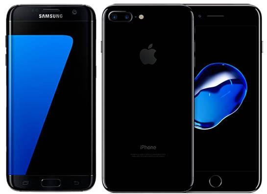 Samsung Galaxy S7 edge и iPhone 7 Plus
