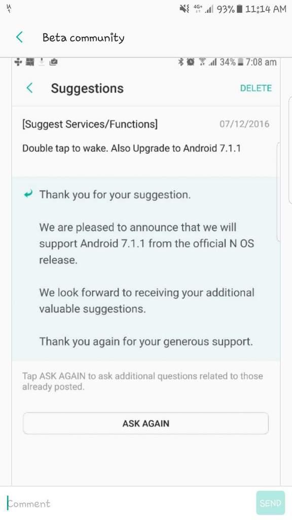 Samsung Galaxy S7 и S7 edge обновятся сразу до Android 7.1.1 Nougat