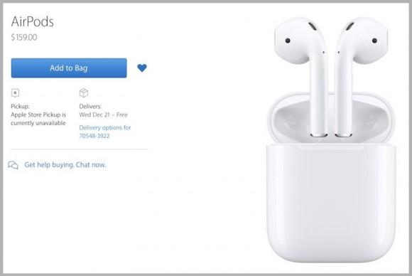 Apple начала продажи беспроводных наушников AirPods