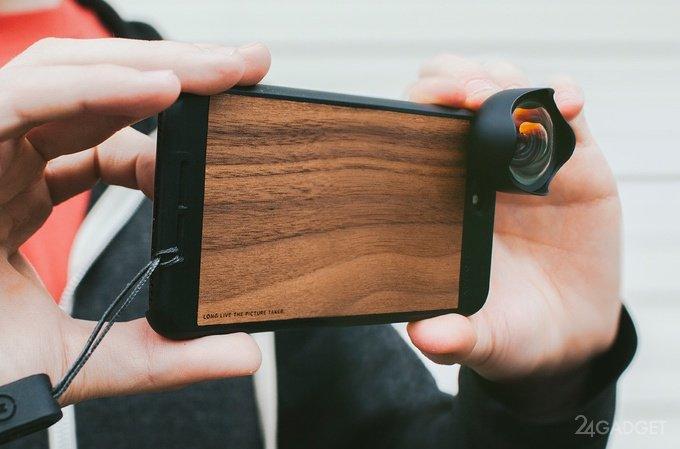 Чехол для iPhone со сменной оптикой (10 фото + видео)