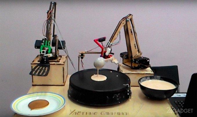 На ВДНХ робот печёт блинчики (видео)