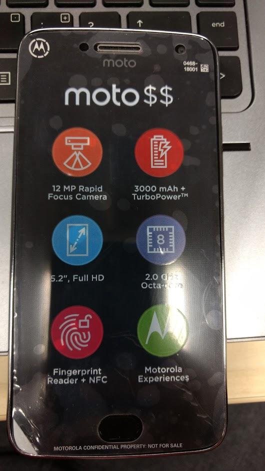 Живое фото Moto G5 Plus подтвердило характеристики