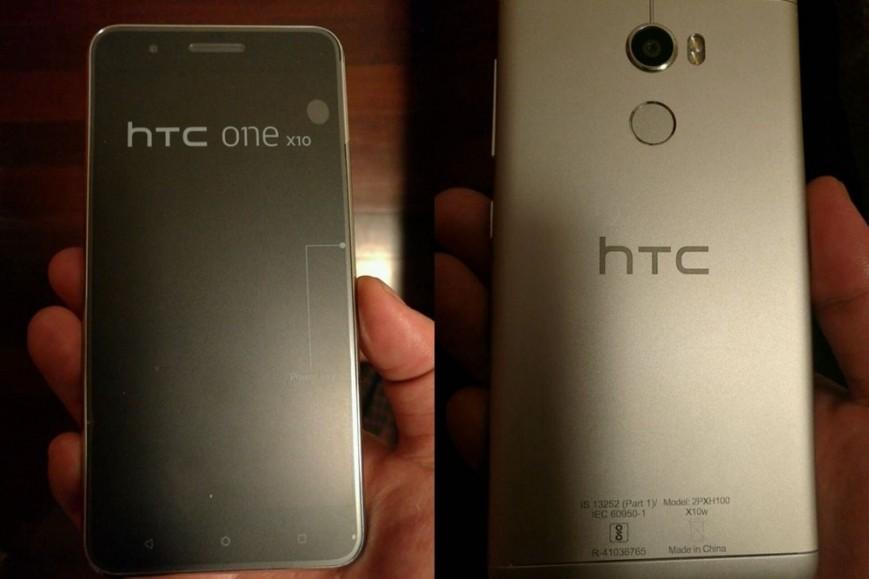 HTC One X10 показался на живых фото