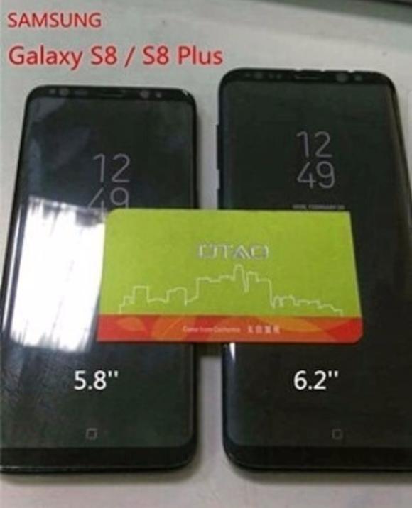 Парное фото Samsung Galaxy S8 и Galaxy S8 Plus показало экранную кнопку Home