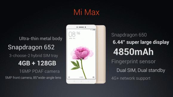 Огромный Xiaomi Mi Max 2 получит 6 ГБ оперативной памяти