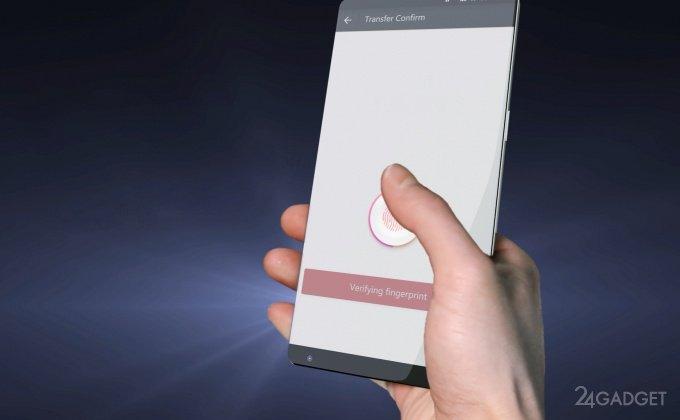 Сканер отпечатка пальца интегрируют в экран смартфона (видео)